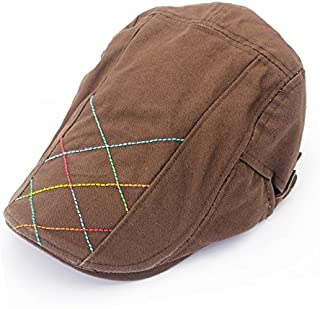 SGJFZD Bead Canvas Bile Cap Sports Cap Must Choose Neutral Tide Hat Spring and Summer New Hand Sewn Thick Line (Color : Coffee)