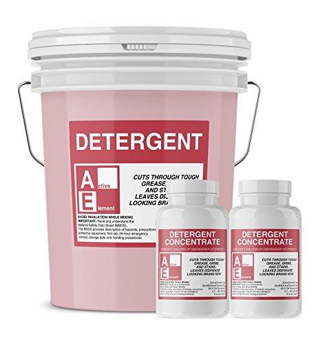 Commercial Dishwasher Detergent, Active Element, Makes one 5-gallon pail, Commercial-Grade