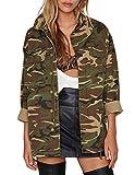 ASMAX HaoDuoYi Womens Casual Camo Lightweight Zipper Outwear Jacket