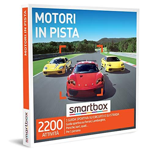 Smartbox - Motori In Pista - Cofanetto Regalo per Uomo, 1 Attività di Guida Sportiva per 1 Persona, Idee Regalo Originale per Lui