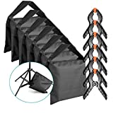 Neewer 6 Stück Schwer Duty Sandsack (schwarz) für Fotostudio Lichtständer Auslegerarme mit 6...