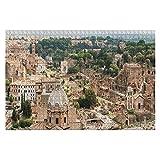 1000 piezas de vista aérea panorámica del paisaje urbano del Foro Romano y el Coliseo Romano Rompecabezas de piezas grandes para adultos Juguete educativo para niños Juegos creativos Entretenimiento R