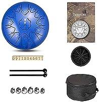 スチールタンドラム、 スチール舌ドラム舌ドラム13トーン12インチ、サンスクリットドラムのプレミアム金属チャクラタンクドラム(色:E)の鋼鉄パーカッション器具 ディッシュ形ドラム、ハンドドラム (Color : E)