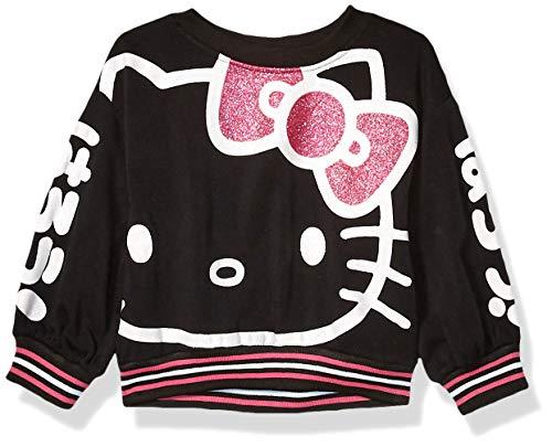 Hello Kitty Mädchen Girls' 45th Anniversary Fashion Sweatshirt Pullover, schwarz, 6X