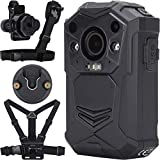 BRIFIELD® BR1 Body Camera - HD 1440p, 128GB MEMORY CARD, Night Vision, GPS, H.265   Body Cam <span class='highlight'>for</span> Security & Personal Footage Uses   Includes <span class='highlight'>Chest</span> Harness, Shoulder Harness, KlickFast Stud & Dock