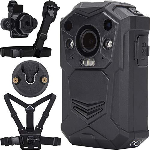 BRIFIELD® BR1 Körperkamera – HD 1440p, 64 GB Speicherkarte, Nachtsicht, GPS, H.265 | Body Cam für Sicherheit und persönliche Aufnahmen | inkl. Brustgurt, Schultergurt, KlickFast Stecker und Dock