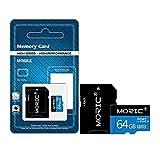 Jinghengrong Tarjeta de Memoria Flash Tarjeta Micro SD TF Alta Velocidad de Gran Capacidad para el teléfono móvil de la cámara 64GB