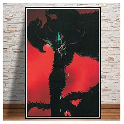 H/F Tela Decorazione della Casa Stampa Pittura Arte della Parete Diavolo Pianto Anime Giapponese Immagine Nordica Poster Comodino Sfondo Senza Cornice (15,7 X 19,6 Pollici) G8633