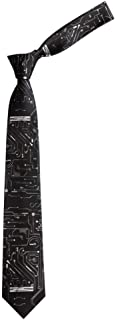 Black circuit printed tie literary personality gift for boys and girls
