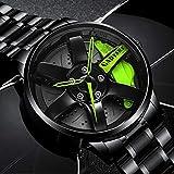 K-ONE Herren Auto Rad Uhr Mode Sport Uhr Quarz Mesh Felge Nabe Uhr Relogio Masculino Ehemänner Boyfirends Uhr Geschenk Reloj
