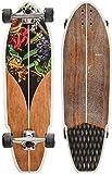 YAYY Planche à roulettes 32 Carver Surfing Skateboard Professional Carver Surfboard 7 Canadian Maple Deck City Road Land Cruiser Complet Convient pour Adultes Enfants Filles Upgrade