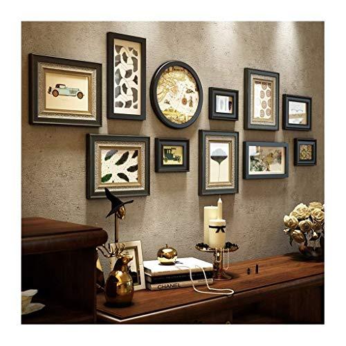 Jjek K- Multi Collage fotolijst Muur fotolijst 11 stks, Inlaid Graving fotolijst Ontwerp
