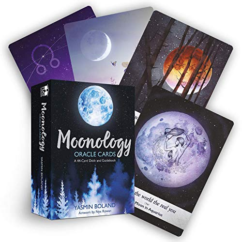 BBear Moonology Oracle Tarot Cards A 44-Card Deck Fortune Telling Cards Mysterious Unusual Astrological