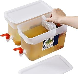 FUNCOCO Koude waterkokers, Dispenser Koude Drank Sap Emmer Grote Capaciteit Ijswater Kruik Fruit Thee voor Sap Iced Tea Wi...