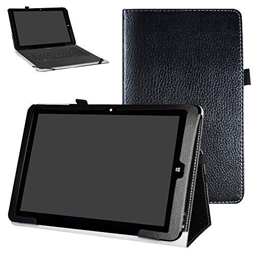 MAMA MOUTH Chuwi hi12 Custodia, Slim Sottile di Peso Leggero con Supporto in Piedi Caso Case per 12  Chuwi Hi12 Windows 10 & Android 5.1 Dual System Tablet PC,Nero
