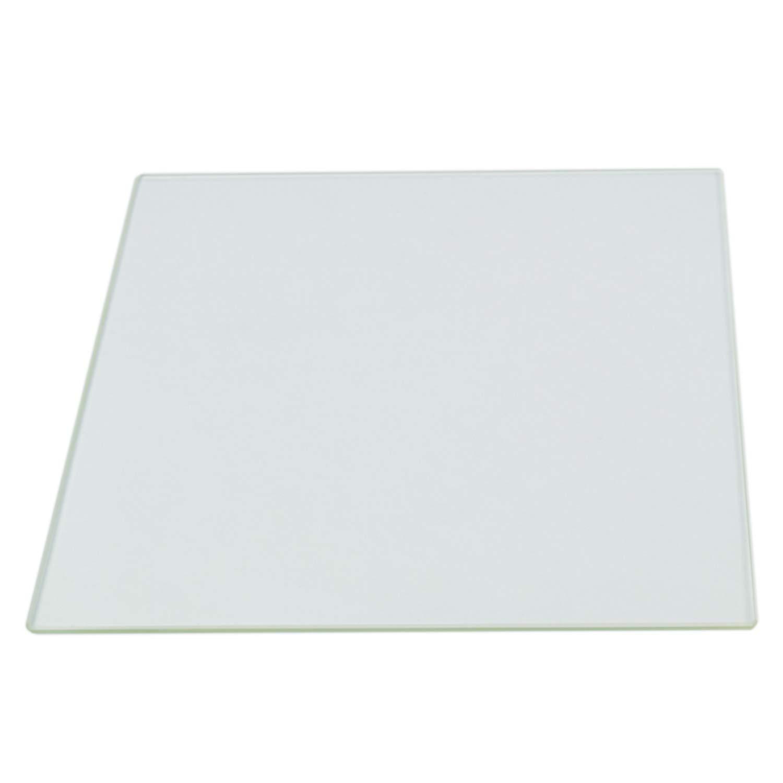220mm x 220mm Borosilicate Glass Plate Bed w// Flat Polished Edge for MK2...