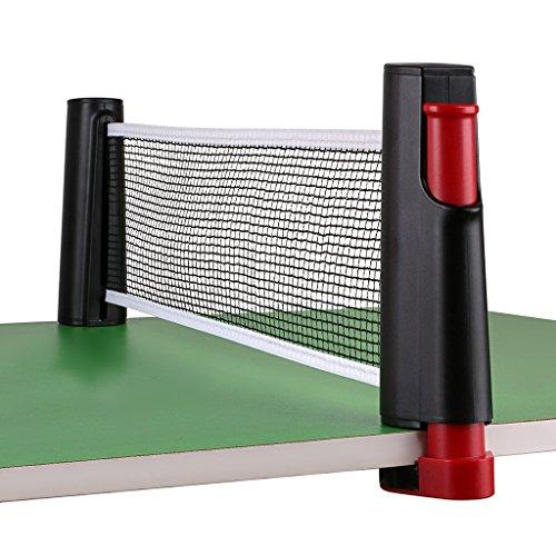 Homeself Draagbare Intrekbare Tafel Tennis Net Vervanging, Ping Pong Net Post Set Accessoire, 6 Voeten (1.8M), Past Tafels Tot 2.0 inch (5.0 cm)
