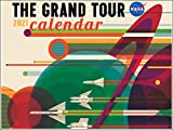 NASA The Grand Tour Travel Planets Space Art 2021 Wall Calendar 12 Month Monthly Full Color Pages Thick Paper Folded Ready to Hang 18x12 inch