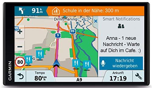 Garmin Drive Smart 61 LMT-D EU Navigationsgerät, Europa Karte, lebenslang Kartenupdates und Verkehrsinfos, Smart Notifications, 6,95 Zoll (17,7 cm) Touchdisplay, 010-01681-13