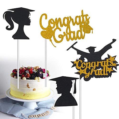 ERFHJ 4 afstuderen taart top hoed bachelor kostuum gefeliciteerd cake cake fruit plukken taart decoratie voor klasgenoot partij