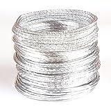 Creacraft Alambre de Aluminio Artístico de Varios Estilos de Plata II: 25 Metros (5 Rollos a 5 Metros) - para Bisutería