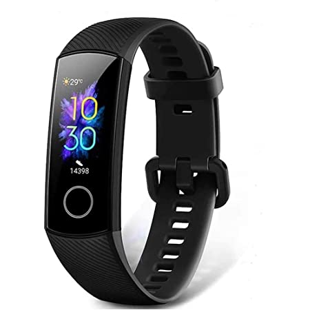HONOR Band 5 Smart Bracelet Trackers Watch Faces Smart Fitness Timer Intelligent Sleep Data Monitoraggio della frequenza cardiaca in Tempo Reale 5ATM Waterproof Swim SpO2 Blood Oxygen Monitor (Nero)