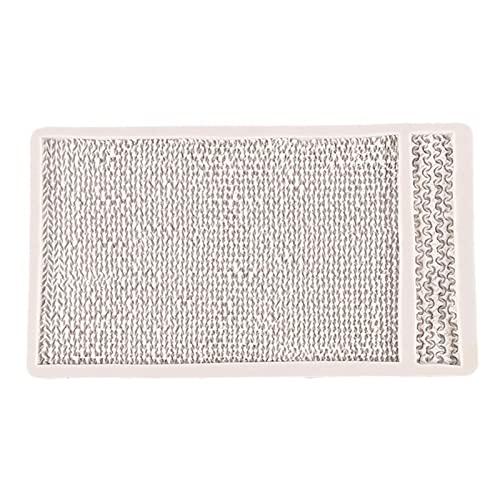 Mysracing Molde Fondant suéter de Longitud Duradero Pastel de Punto DIY decoración Herramienta Resistente al Desgaste Resistente al Desgaste