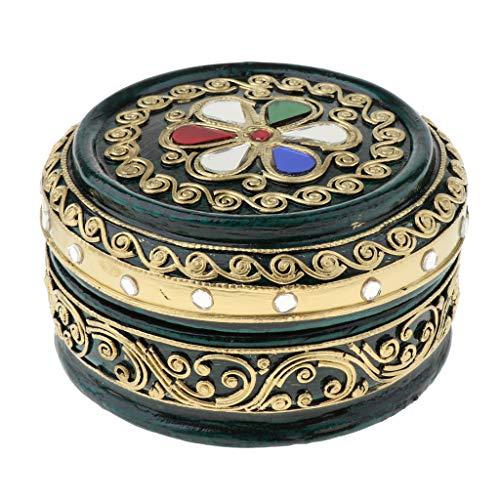 perfeclan Caja de Almacenamiento de Exhibición de Organizador de Joyero de Madera con Tapa, para Anillos, Pendientes, Collar, Organizador