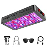 BESTVA DC Series 1500W LED Grow Light 2.5x2.5ft Coverage Upgraded SMD Diodes Aluminum Reflector Full Spectrum Grow Lamps for Greenhouse Hydroponic Higher PPF Indoor Plants Growing Lights