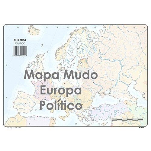 Mapa Mudo SELVI Color Din-A4 Europa Político, Caja x50