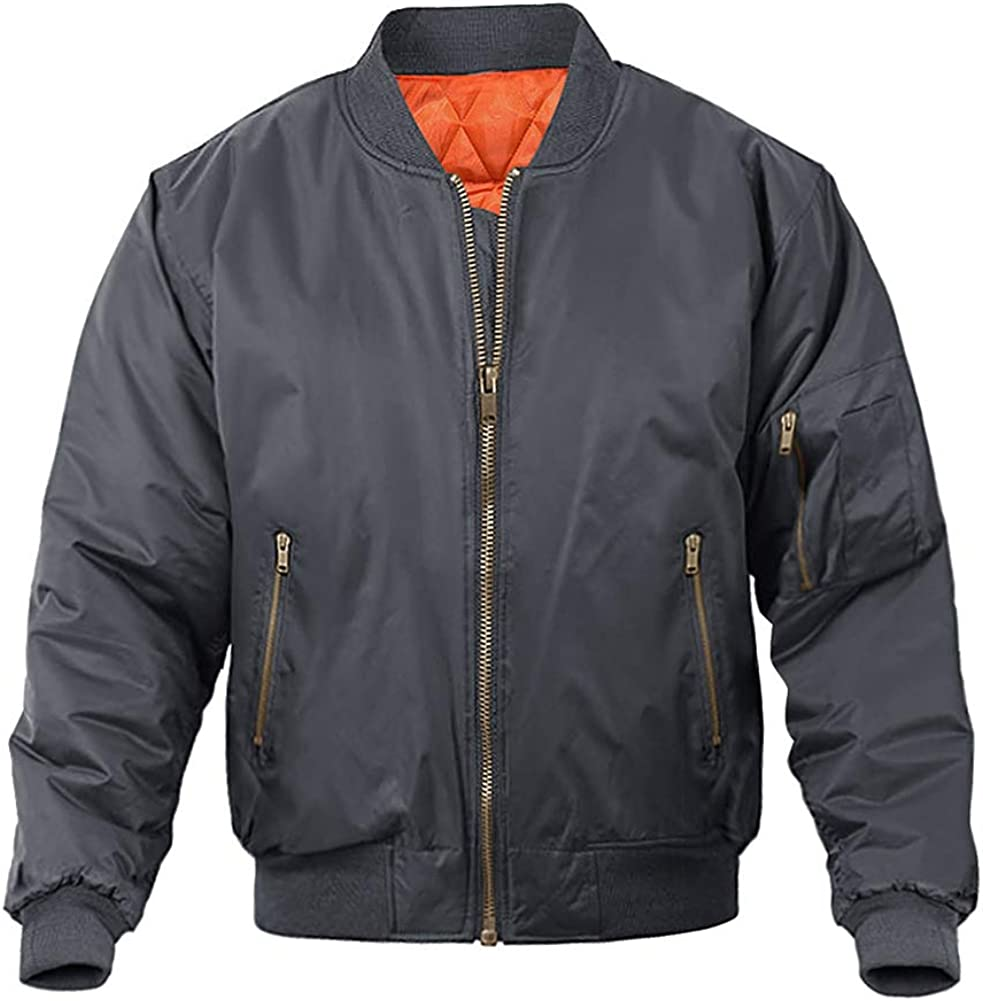 MAGNIVIT Men's Bomber Jacket Casual Fall Winter Military Jacket and Coats Outwear