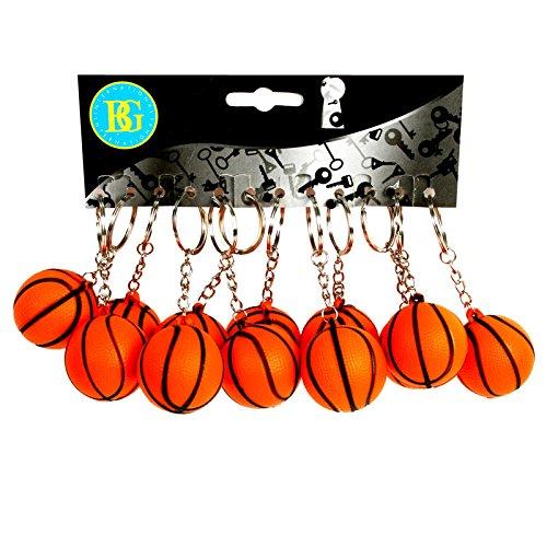 12 Porte-clés Ballons de Basket