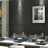Telihome Grasscloth efecto liso con textura papel tapiz rollo moderno papel de pared simple para el dormitorio sala de estar decoración para el hogar, gris oscuro, A, 0.53 * 10 M