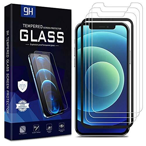 Pack de 3 protectores de pantalla de vidrio templado 2.5D 9H para iPhone XS con marco de instalación de calidad premium