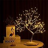 VIMUKUN 20-Zoll-Baum Lampe Bonsai LED-Licht, Weihnachtsdekoration 36L Lampe Raumdekoration, künstliche Baumleuchten für Zuhause/Party/Festival, USB und batteriebetrieben
