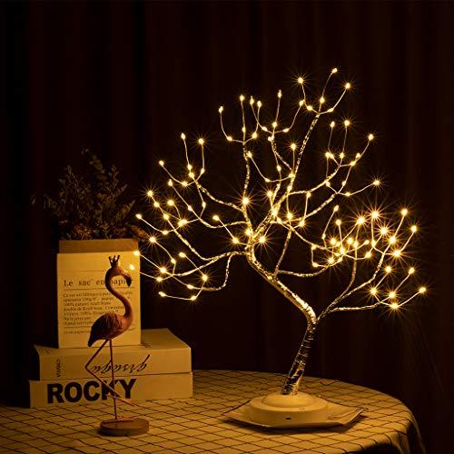 VIMUKUN Lampada Ad Albero da 20'Albero Bonsai A LED, Lampada A LED da Scrivania 36L, Luci per Alberi Artificiali per Casa/Festa/Festival/Decorazioni Natalizie, USB E Alimentato A Batteria