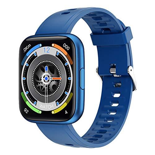 ZYDZ P8PLUS Men's Sports Smart Watch 1.69 Pulgadas Táctil Full IP67 Reloj Inteligente Impermeable Hembra Fitness Rastreador Reloj para Android,B