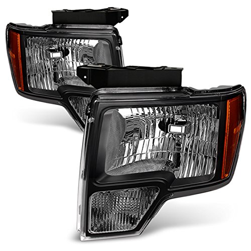 For Black 09-14 Ford F150 F-150 For Non Projector Headlight Model Pickup Truck Headlight Replacement