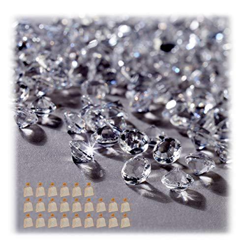 Relaxdays 72000 x Dekodiamanten im Set, Tischdeko Hochzeit, Dekosteine Diamanten, Glitzer, Kunststoff, 6 x 4 mm,...