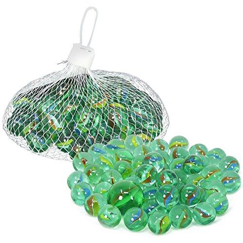 com-four® 100-teiliges Glasmurmel-Set - Glas-Murmeln zum Spielen und Sammeln - Spiele-Klassiker für Zuhause und unterwegs (100-teilig - Murmeln)