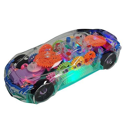 Heoolstranger Kinderspielzeugauto, Mechanische Ausrüstung Spielzeugauto Leichte Musik Transparent Fun Elektroauto, Neues Konzept Sportwagen Für Jungen Und Mädchen