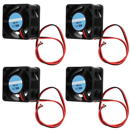 Kadimendium Diseño de Ventilador único de tamaño pequeño Ventilador de refrigeración fácil de Transportar 4020 Ventilador de refrigeración sin escobillas de 4 Piezas para Mejorar el Flujo de Aire