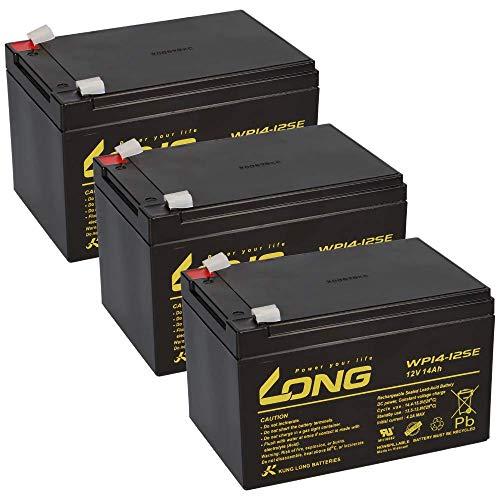 36 V 14 Ah – 3 baterías AGM BLEI de 12 V 14 Ah – Compatible con patinete eléctrico