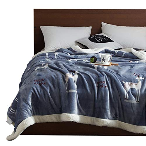 LYQZ Weich Nordic Doppeldecken Flanelldecke Quilts Winter Warm Student Schlafsaal Wurf für Sofa und Bett Geschenk (Size : 200 * 230cm)