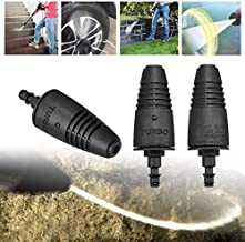 Black Turbo Nozzle High Pressure Washer Turbo Nozzle Head Washer Rotating Replace for Karcher LAVOR COMETVAX Cleaning Tool PA66+GF Parts