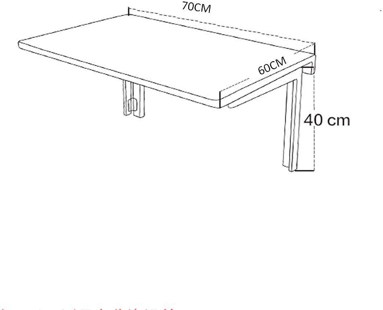 precios ultra bajos AFDK Montada en la parojo de la mesa plegable de de de madera maciza blancoa, mesa de comedor multipropósito simple rectangular con soporte en K, mesa portátil plegable para computadora portátil,70  60 cm  barato en alta calidad