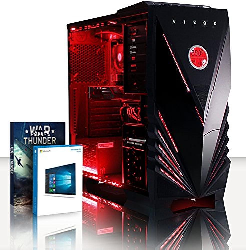 Vibox pc gaming fisso 16gb ddr4 ram 120gb ssd 3tb hdd windows 10 os intel i7 6-core radeon r7 240 Crusher 48