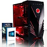 VIBOX Scorpius - Ordenador Gaming con juego War Thunder, procesador AMD FX Quad Core 4 GHz, tarjeta gráfica Nvidia GeForce GTX 750 Ti, 1 Tb HDD, 8 GB RAM, rojo Vibox Rouge Néon (PC) 8Go RAM, 2To HDD, Windows 10