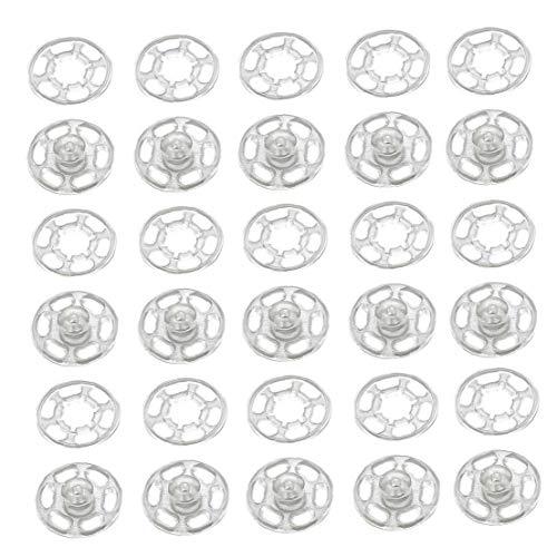 50pcs botón Invisible de plástico pequeña de Las presillas botón Abrigo Stud Accesorios de Costura del botón