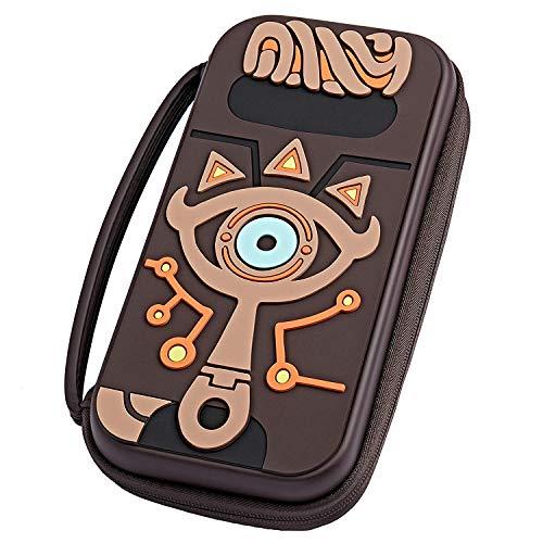 Maleta compatible con Nintendo Switch Zelda, cadena de silicona con relieve en relieve Ojo de pizarra Hika, accesorios de Legend of Zelda bolsa de viaje